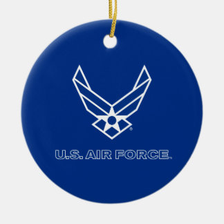Small Blue Air Force Logo with Outline Ornament