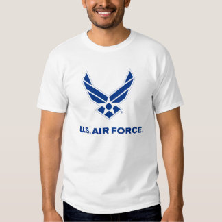 Small Blue Air Force Logo with Outline T Shirts