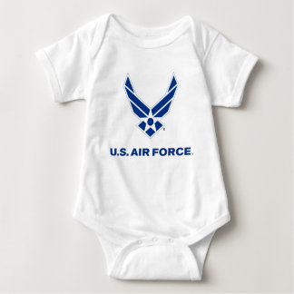 Small Blue Air Force Logo with Outline Tees