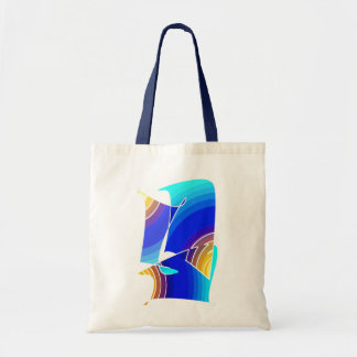 Small Blue and White Tote Bag
