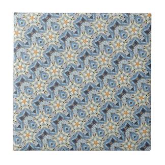 Small blue diagonal moroccan tile
