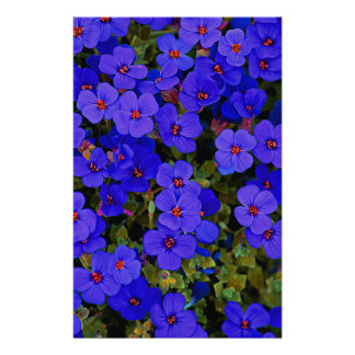 Small Blue Flowers Stationery