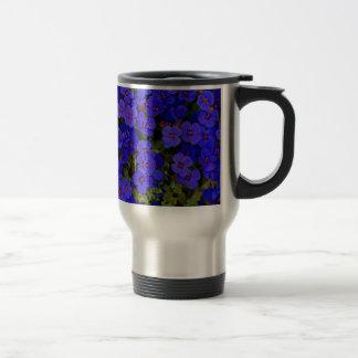 Small Blue Flowers Travel Mug