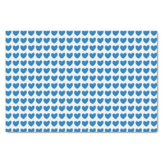 Small Blue Hearts Tissue Paper