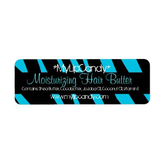 Small Blue Zebra Product Label Return Address Label