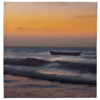 Small Boat at Sea Jericoacoara Brazil Napkin