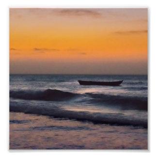 Small Boat at Sea Jericoacoara Brazil Photo Print