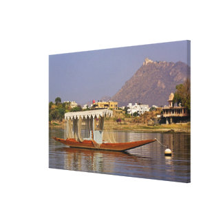 Small boat, Lake Pichola, Udaipur, India. Gallery Wrap Canvas