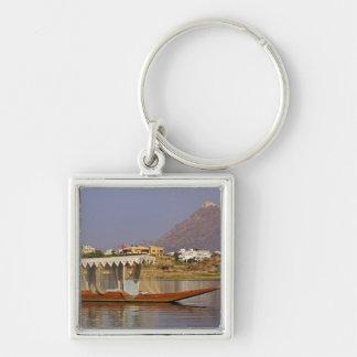 Small boat, Lake Pichola, Udaipur, India. Key Chains