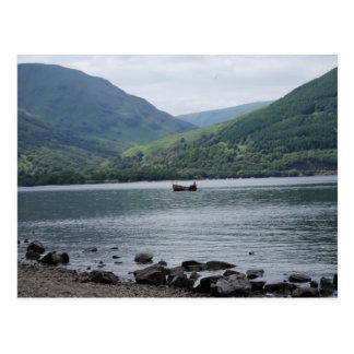 small boat on Loch Lomond Postcard