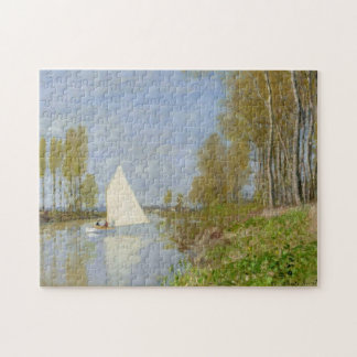 Small Boat on Seine Argenteuil Monet Fine Art Jigsaw Puzzles