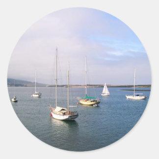 Small Boats at Morro Bay Sticker