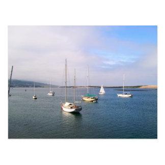 Small Boats in Lagoon at Morro Bay Souvenirs Postcard