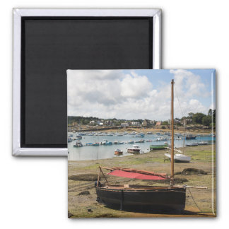 Small Boats | Ploumanac'H, France Square Magnet