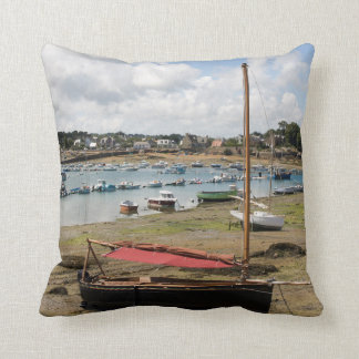 Small Boats | Ploumanac'H, France Throw Cushions