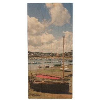 Small Boats | Ploumanac'H, France Wood USB 2.0 Flash Drive