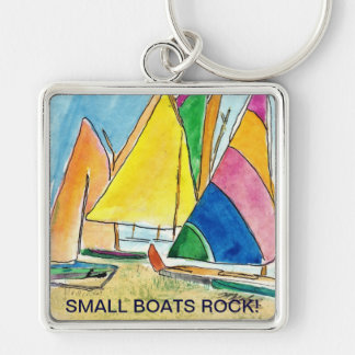 Small Boats Rock-Sailboat Key Chain