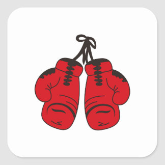 SMALL BOXING GLOVES SQUARE STICKER