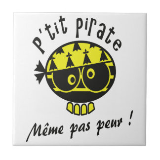 Small Breton Pirate Small Square Tile
