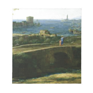 small bridge over looking sea notepad