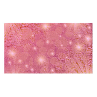 small bright stars on pink business card