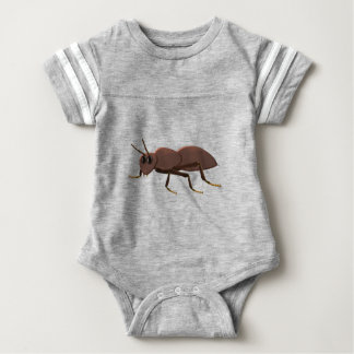 Small brown ant baby bodysuit