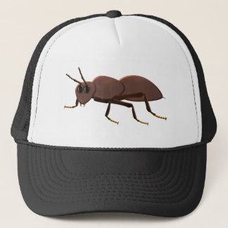 Small brown ant trucker hat