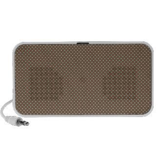 Small brown polka dots mini speaker