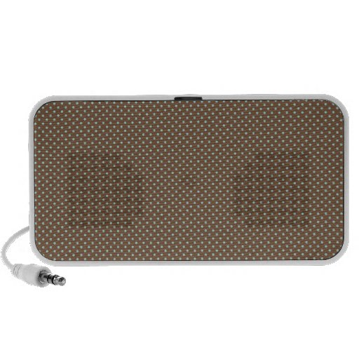 Small brown polka dots mini speaker