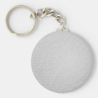 Small Bubble Wrap Texture Basic Round Button Key Ring