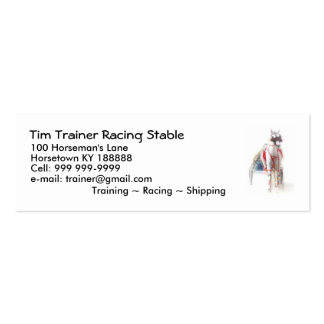 Small Business Cards for Horse Trainers