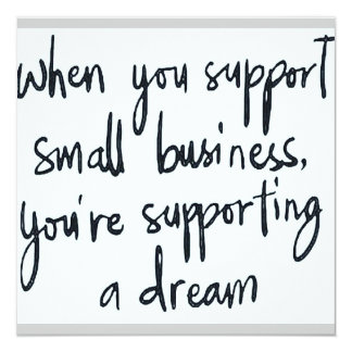 Small business promotion card