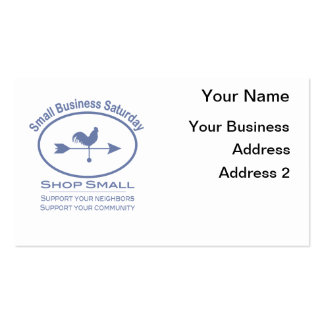Small Business Saturday Weather vane Pack Of Standard Business Cards
