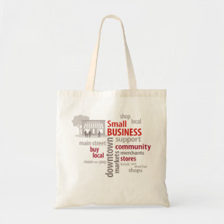 Small Business, Shop Local, Buy Local Budget Tote Bag