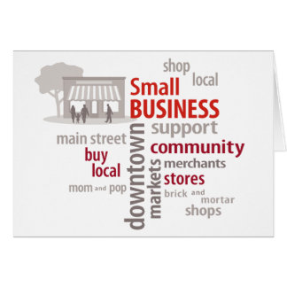 Small Business, Shop Local, Buy Local Note Card