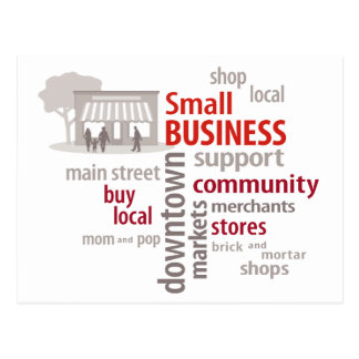 Small Business, Shop Local, Buy Local Postcards
