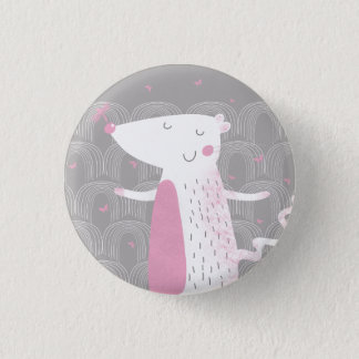 Small Button, Badge, Cute Mouse 3 Cm Round Badge