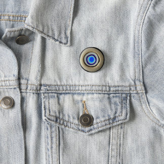Small Button/ Greek Evil Eye 3 Cm Round Badge