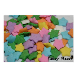 Small candy stars Poster