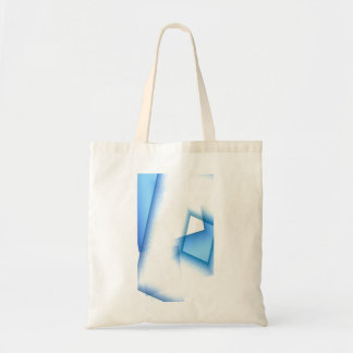 Small Canvas Bag with Blue shapes