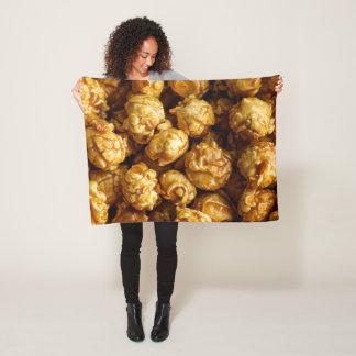 Small Caramel Popcorn Fleece Blanket