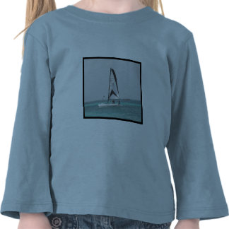 Small Catamaran Sailboat Toddler Shirt