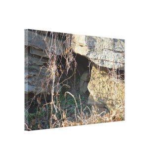 Small Cave Opening Canvas Print