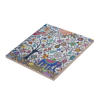 Small ceramic tile- nature small square tile