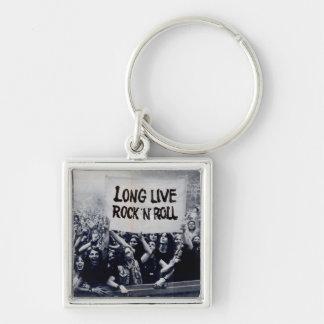"Small Chaveiro squared ""Long Live Rock N Roll "" Key Ring"