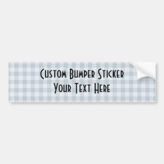 Small Checkers Pattern 1 - Blue Bumper Sticker