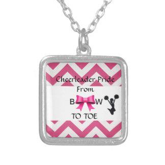 Small Cheerleader Pride Silver Necklace