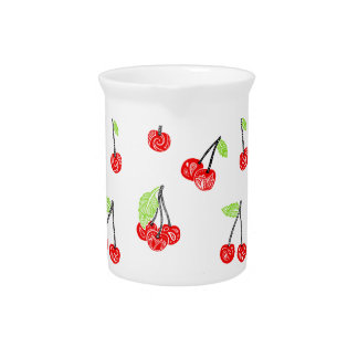 Small cherries pitcher