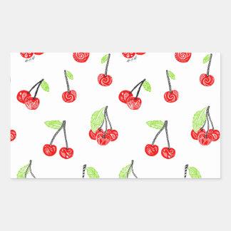 Small cherries rectangular sticker