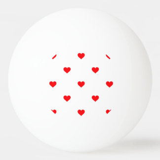 Small Christmas Red Polka Dot Hearts On Snow White Ping Pong Ball